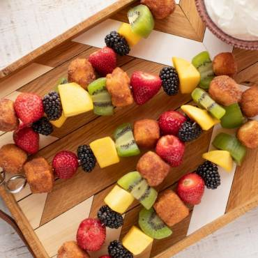 Sweet Breakfast Kabobs with Honey-Yogurt Dipping Sauce
