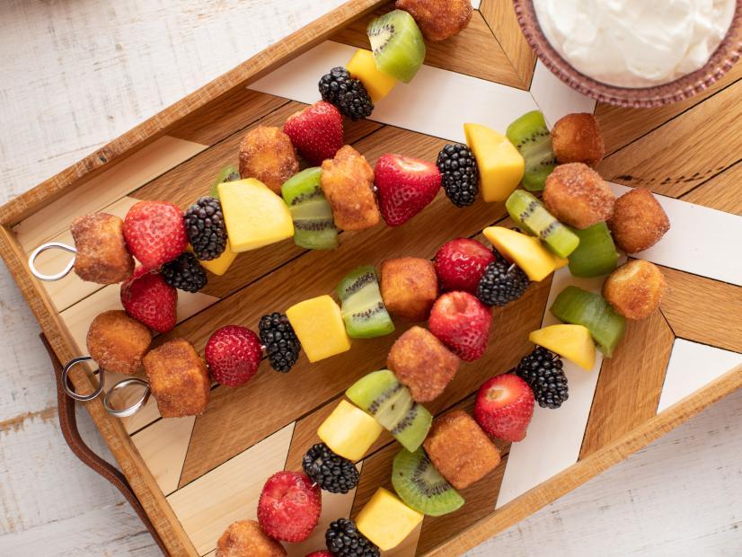 Sweet Breakfast Kabobs with Honey-Yogurt Dipping Sauce