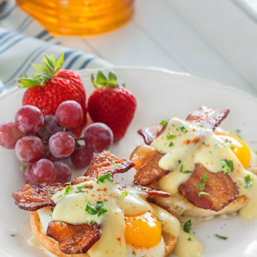 Baked Honey Bacon Benedict